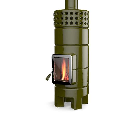 Round Stack 2° Size by La Castellamonte | Wood burning stoves