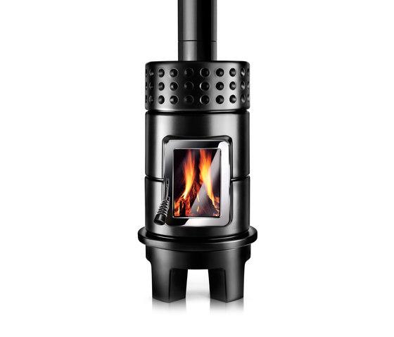 Round Stack rim by La Castellamonte | Wood burning stoves