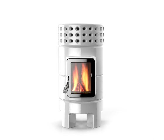 Round Stack slim by La Castellamonte | Wood burning stoves