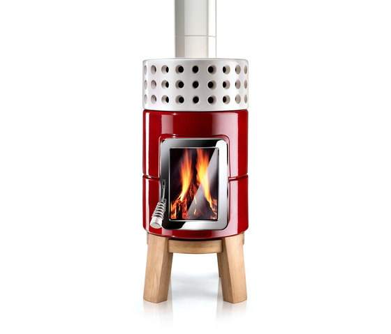 Round Stack wood by La Castellamonte | Wood burning stoves