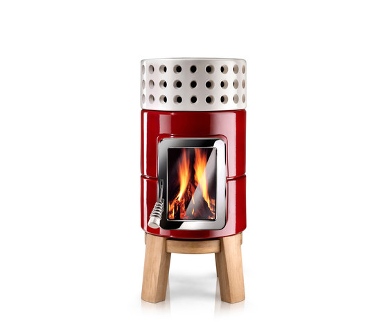 Round Stack wood by La Castellamonte | Stoves