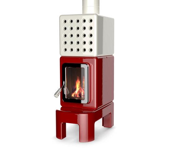 Cubi Stack long by La Castellamonte | Wood burning stoves