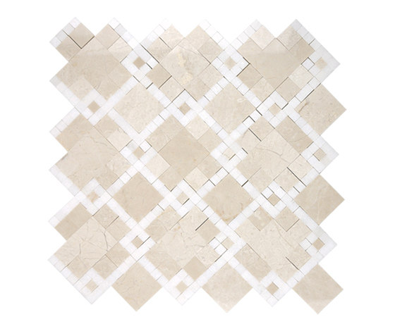Moment Chic Bursa Beige by AKDO | Natural stone mosaics