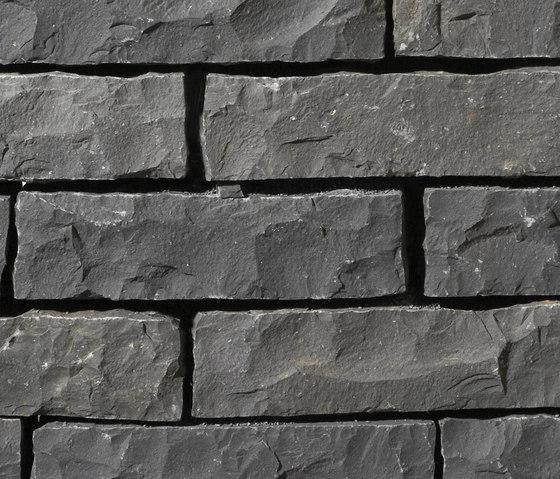 Basalt schwarz Mauersteine by Metten   Railings / Balustrades