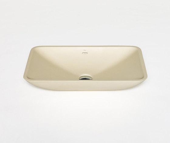 blu•stone rectangular countertop basin by Blu Bathworks | Wash basins