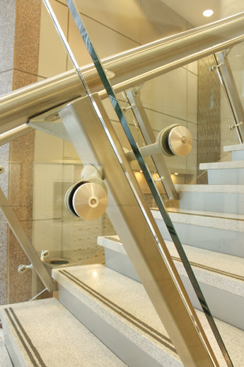 C-13 glazing support assembly by componance | Railings / Balustrades