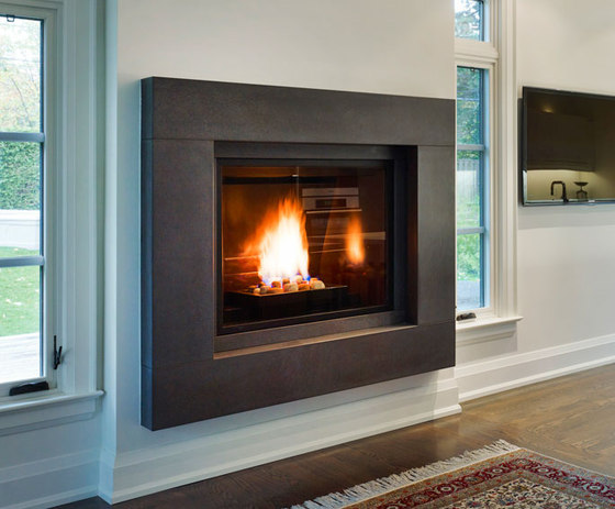 Linnea fireplace surround by Paloform | Fireplace mantels