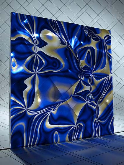 Alchemy Blue Gold by Lumigraf | Synthetic panels