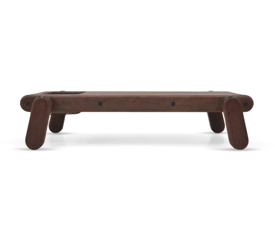 Inflated Wood bench by Cappellini | Waiting area benches