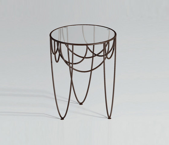 Drapery by spHaus | Side tables
