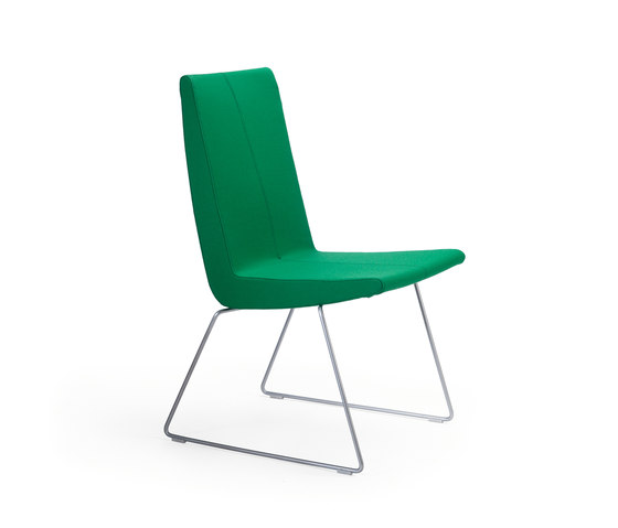 Bird steel sled base by Helland | Visitors chairs / Side chairs