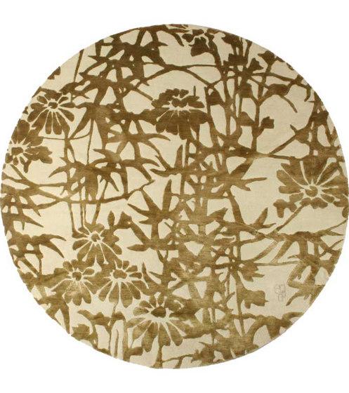 Bamboo Blossoms Green de Emma Gardner Design   Alfombras / Alfombras de diseño