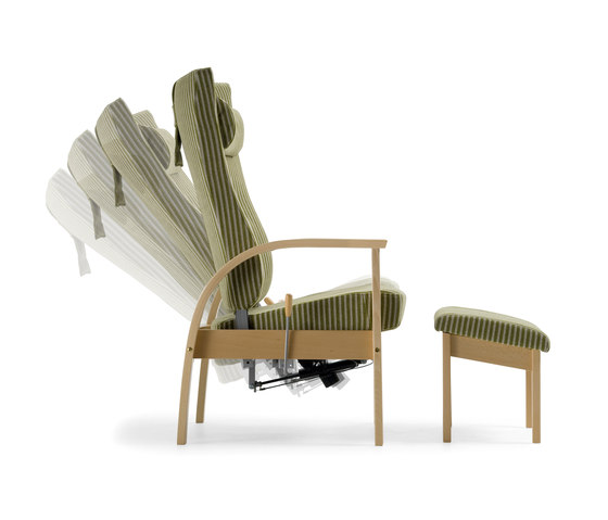 Bo recliner chair by Helland | Elderly care armchairs