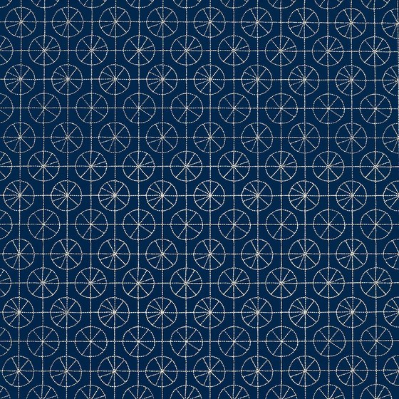 Pinwheel navy wall coverings wallpapers from lulu dk for Blue wallpaper for walls