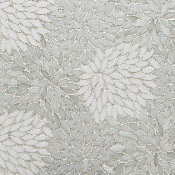 Estrella Be Bop White Glass Mosaic by Artistic Tile | Wall mosaics