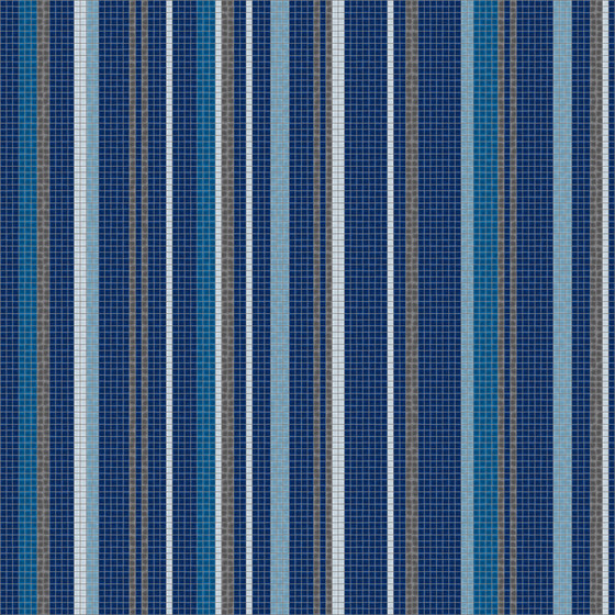 Varied Stripes Cobalt Blue by Artaic | Wall mosaics
