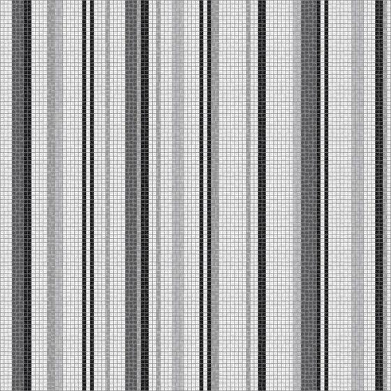 Varied Stripes Steel by Artaic | Wall mosaics