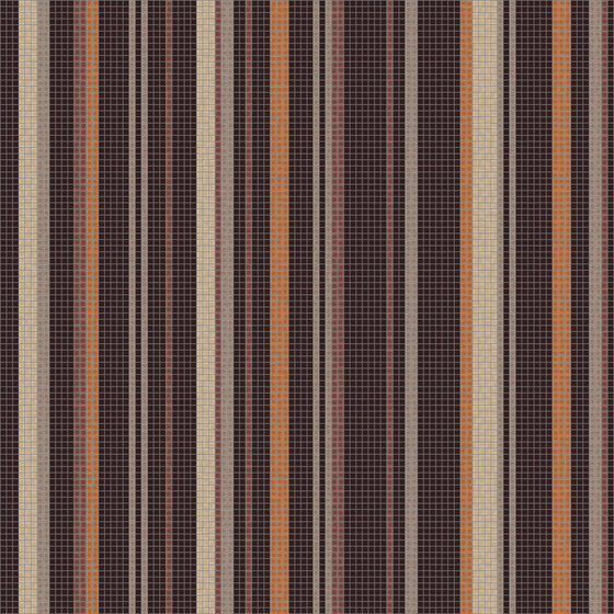 Varied Stripes Espresso by Artaic | Wall mosaics