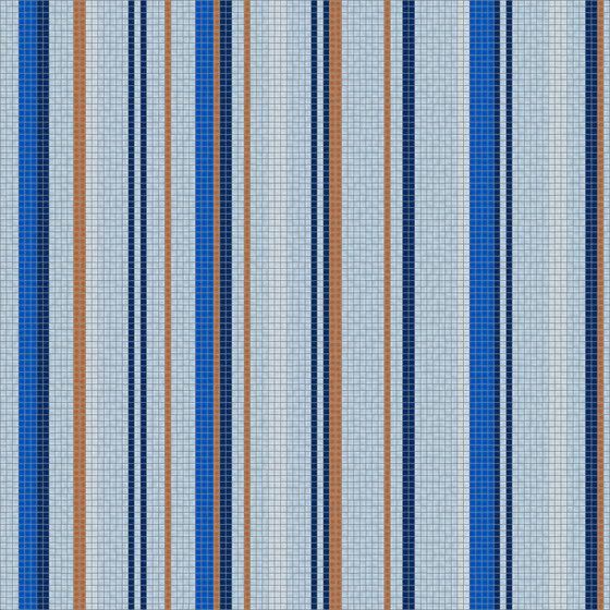 Varied Stripes Seaport by Artaic | Wall mosaics
