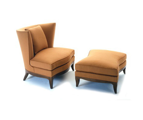 Geneva Club Chair/Ottoman by Donghia | Armchairs
