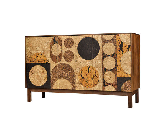 Circles Cork Mosaic Sideboard by Iannone | Sideboards
