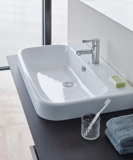 Happy D.2 - Above counter basin by DURAVIT | Wash basins