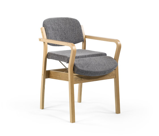 Duun chair stackable | seat lift de Helland | Sillas para ancianos