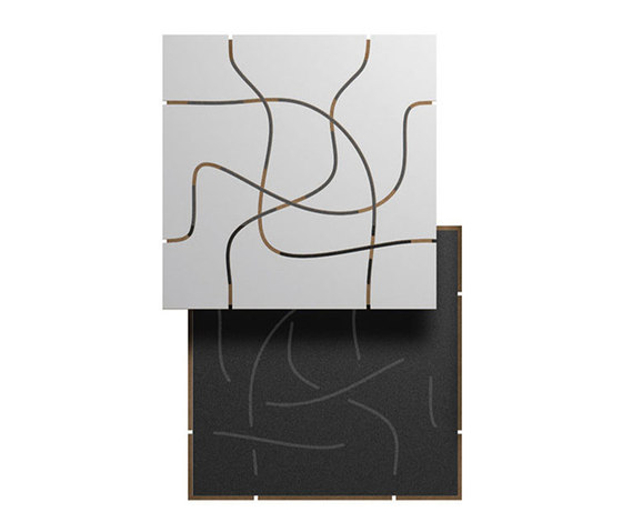 Letwood 2L by Fantoni | Square panels