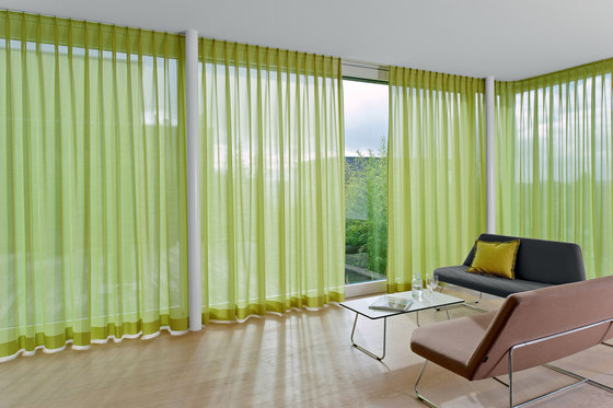 Sereno color curtain tracks by Création Baumann | Curtain fabrics