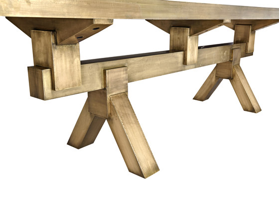 Mass Dining Table Brass von Tom Dixon | Esstische