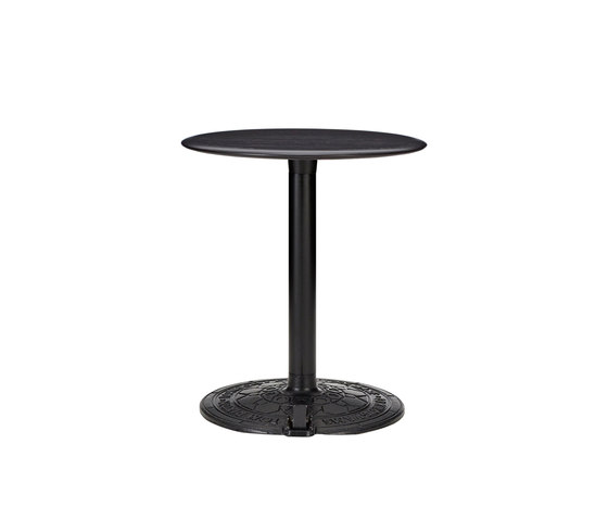 Roll Table Black Oak Top 600mm by Tom Dixon | Dining tables