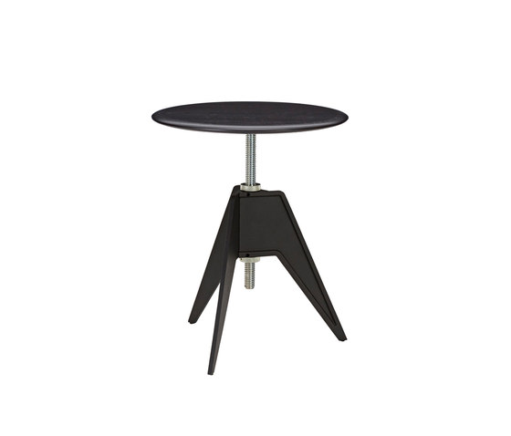 Screw Cafe Table Black Oak Top 600mm by Tom Dixon | Cafeteria tables