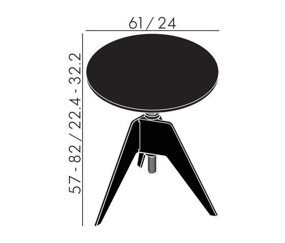 Screw Cafe Table Black Oak Top 600mm de Tom Dixon | Mesas auxiliares