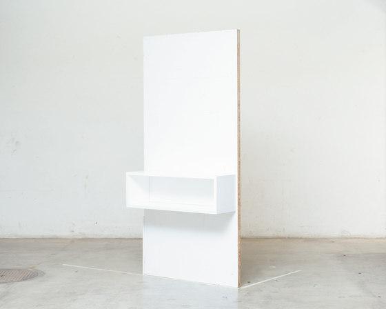Bedside bench wall mounted by Minimöbl | Kids storage furniture
