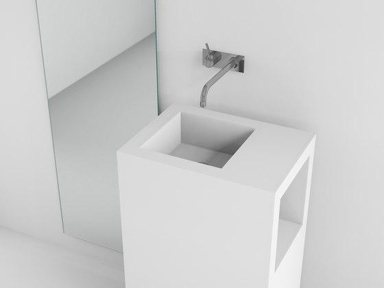 mineralwerkstoff von absolut bad waschbecken lanes 50. Black Bedroom Furniture Sets. Home Design Ideas