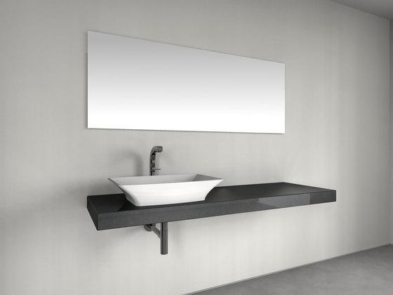 Console basin | Design Nr. 1009 – Umbragrau poliert de Absolut Bad | Meubles lavabos