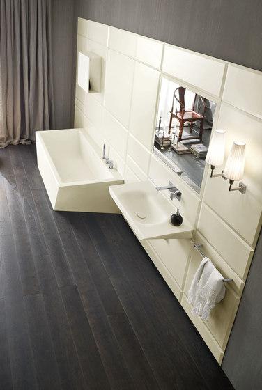 Warp Platte mit integriertem Waschbecken von Rexa Design | Waschtische