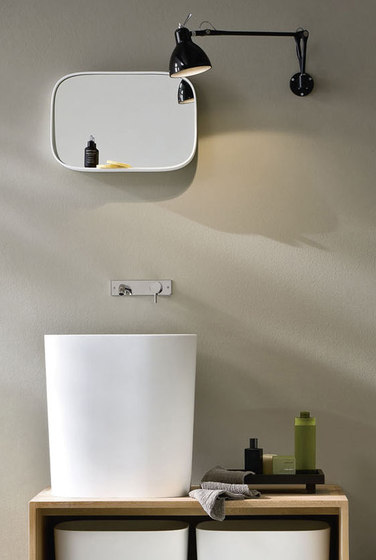Fonte Mirror with shelf by Rexa Design | Wall mirrors