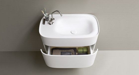 FONTE Washbasin with Drawer by Rexa Design | Wash basins