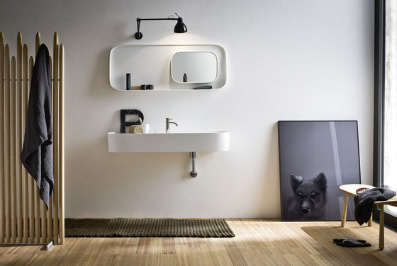 Fonte Top with integrated washbasin by Rexa Design | Vanity units