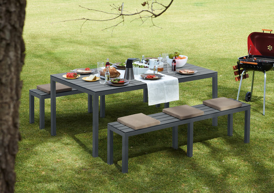 Midi Outdoor Table de Sistema Midi | Tables à manger de jardin