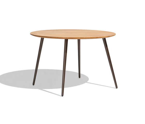 Vint table 120 iroko by Bivaq | Restaurant tables