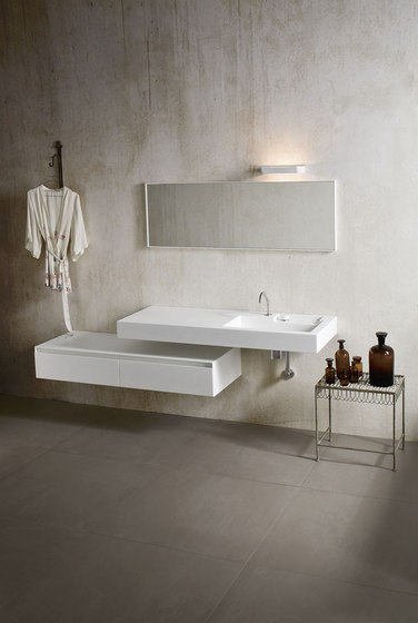 Ergo_nomic Top with integrated washbasin by Rexa Design | Wash basins