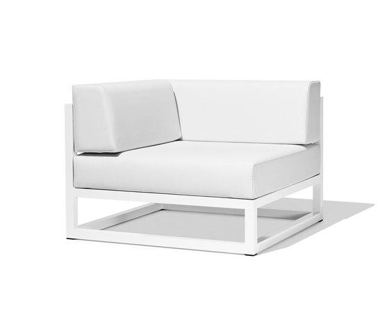Nude corner module by Bivaq | Garden armchairs