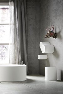 Hole wall cabinet by Rexa Design | Bath shelving