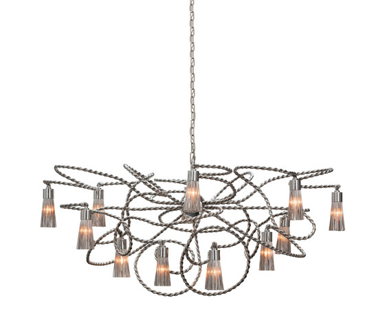 Sultans of Swing chandelier oval by Brand van Egmond | Ceiling suspended chandeliers