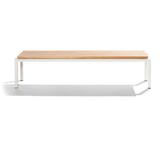 Natal Alu Teak Bench by Tribù | Garden benches