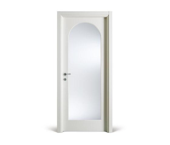 Kévia /13 bianco con cristallo by FerreroLegno | Internal doors