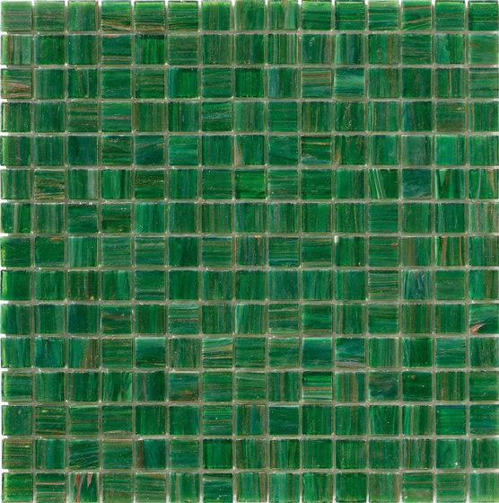 Aurore 20x20 Verde Erba by Mosaico+ | Glass mosaics