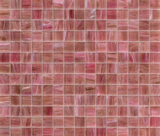 Aurore 20x20 Rosa Caldo di Mosaico+ | Mosaici vetro